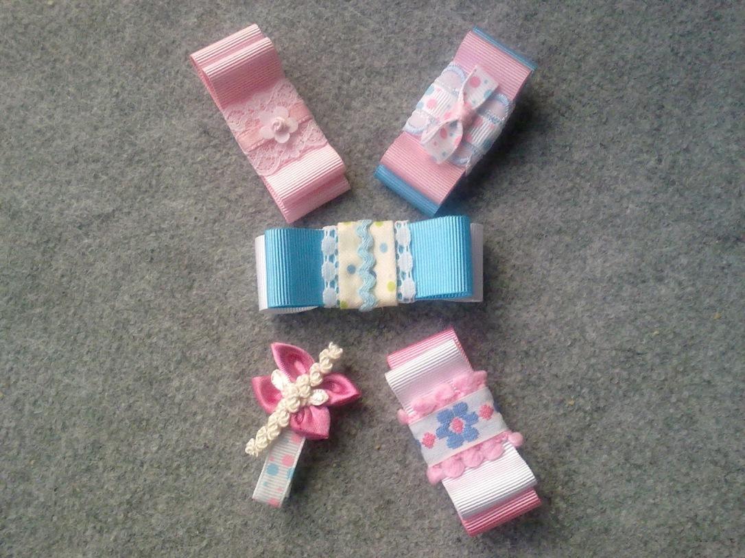 Lazos rosas y azules para bebés