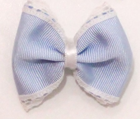 Lazo azul celeste con goma