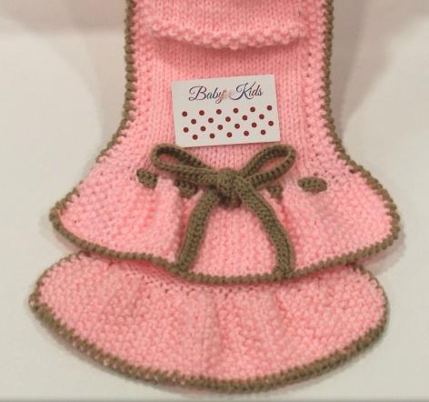 Bufanda de punto bebe rosa