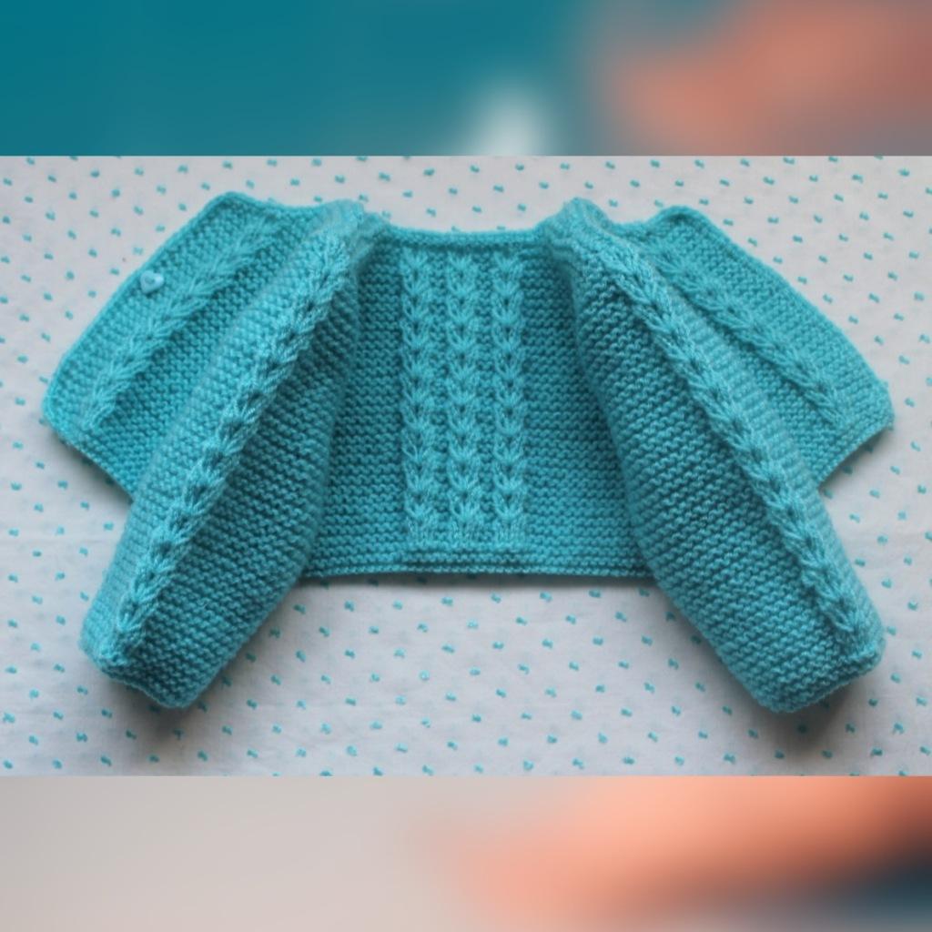 Chaqueta de lana para bebé en Azul