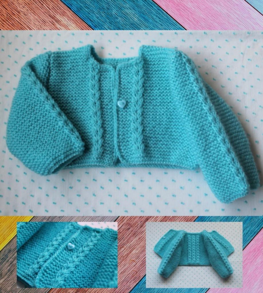 Chaqueta de punto para bebés y niños, hecho a mano, en el color a elegir...